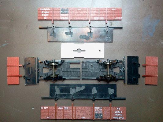 So werden die Teile des MT O-Wagen bearbeitet.