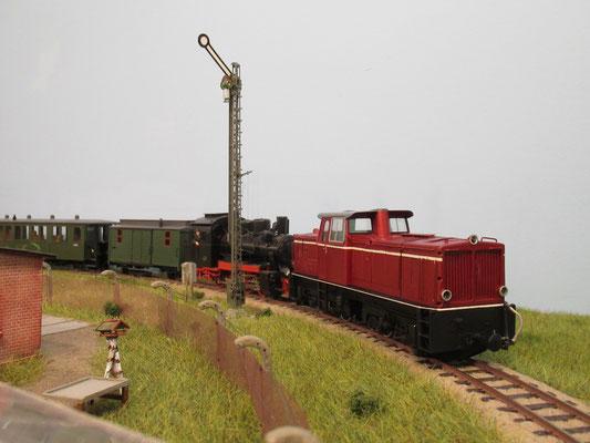 Einfahrt Bergen Ost,  es folgen nun noch einige Nacharbeiten in der Werkstatt der ETLB und beim Hersteller EMW.