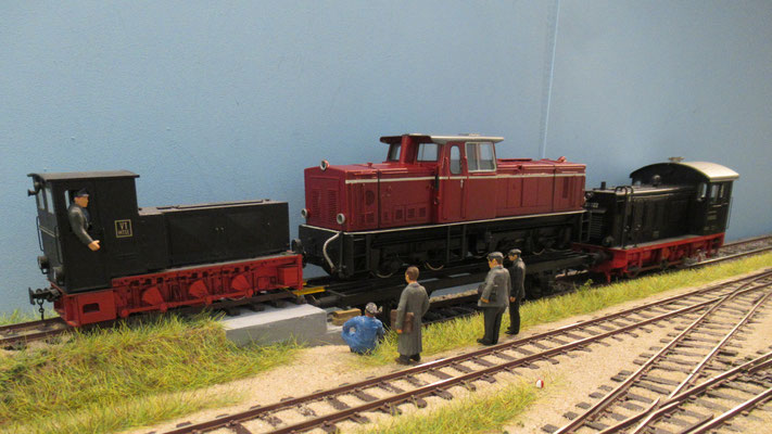 Ankunft der ETLB V51 bei der MTSE in Bergen Ost