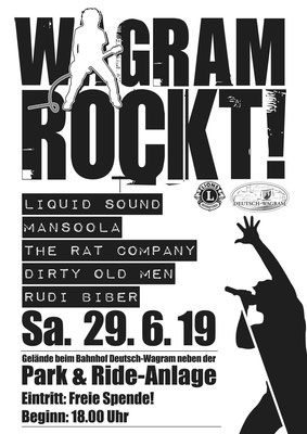 Wagram rockt! Plakat 2019