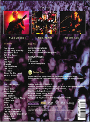 US DVD x2 edition / Slipcase back view