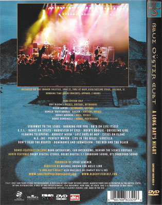 USA DVD - back