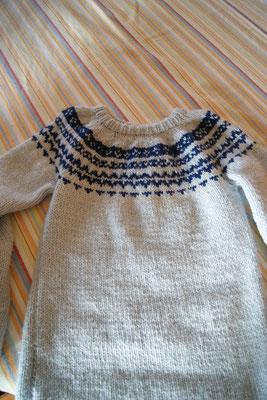 un pull jacquart pour ma fille