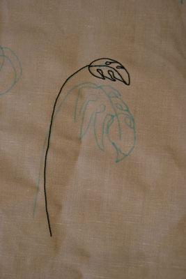 """kit du """" au ver à soie"""" touches de végétation deNathalie Dentzer"""