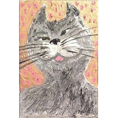 「笑った顔の猫」アクリル・キャンバス