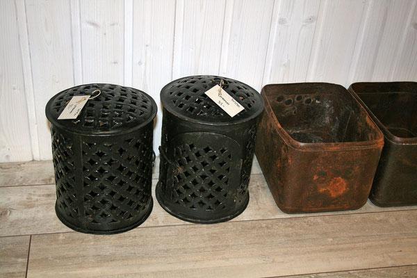 Laterne und Behälter aus Recycling-Eisen