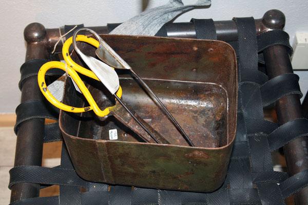 Behälter aus Recycling-Eisen