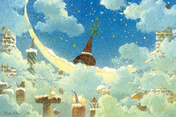 delivery of dreams  [Postcard-size, Watercolor(gouache), 2017]