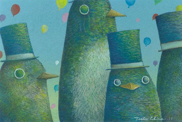 onlooker  [Postcard-size, Watercolor(gouache), 2015]
