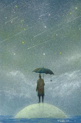 observer of meteor-rain