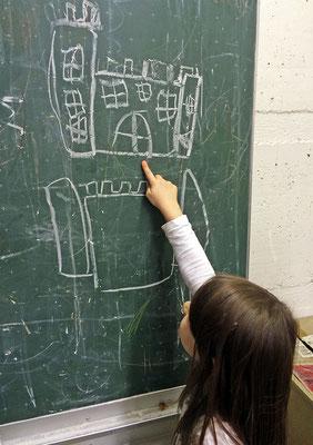 Wir besprechen viele Fragen zur Form und zum Aussehen der Burg.