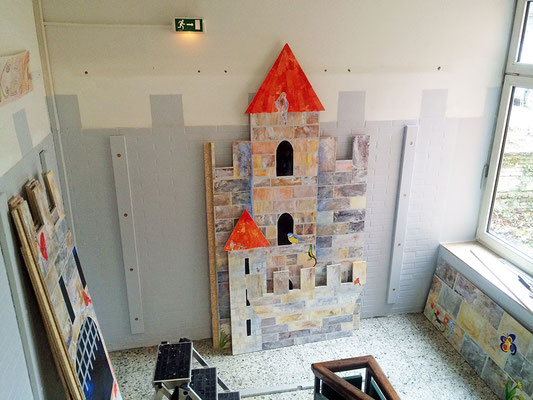 Die Burg kommt an die Wand.