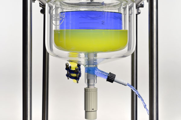 Produktfotografie einer Laborkomponente für NORMAG Lab & Process Glass