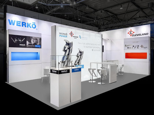 "Eck-Messestand 5 m x 9 m zur ""INTECH 2019"" in Leipzig"