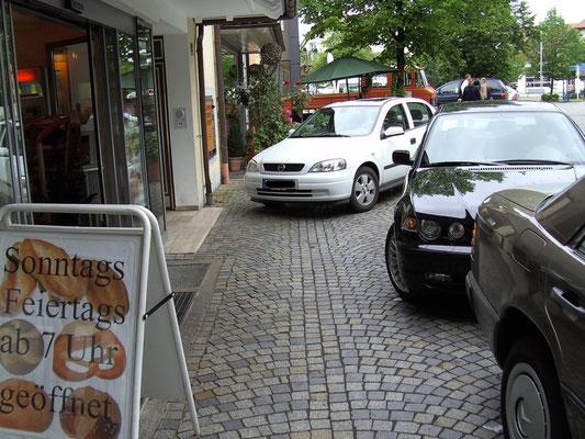 zugeparkte Gehwege