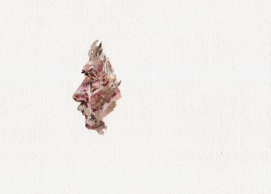 Philosoph, 26,0 x 18,0 cm, Öl