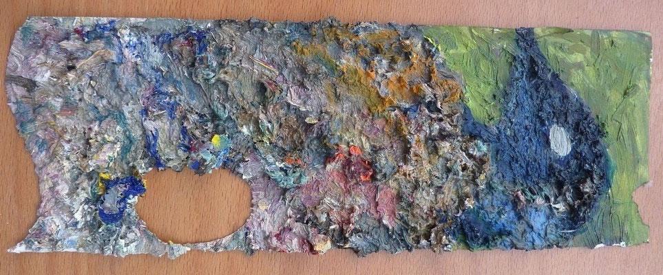 Paradiesvogel, 53,0 x 23,0 cm, Öl auf Palette