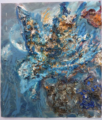 Wilde Schönheit, 29,5 x 21,0 cm, Öl auf Glas