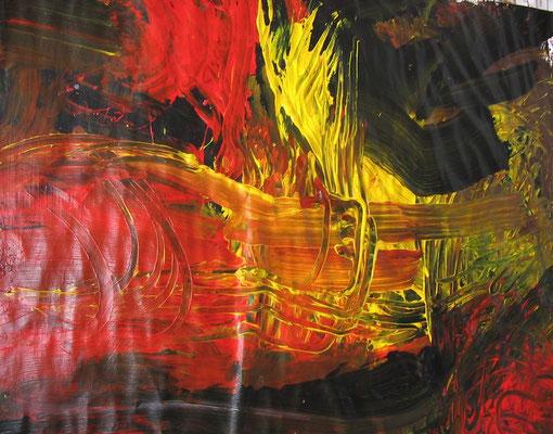 o.T., 200,0 x 180,0 cm, Öl auf Papier