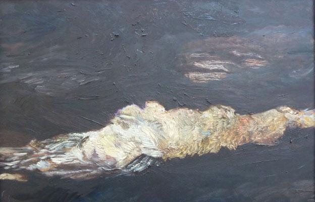 AUFLEUCHTEN, Maria, Übermalung Öl, 40,5 x 60,5 cm
