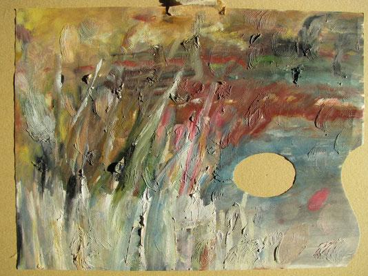 Seestück, 31,0 x 23,0, Öl auf Palette