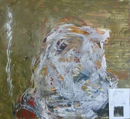 SELBSTPORTRÄT, Maria, Acryl, 115,0 x 103,0 cm