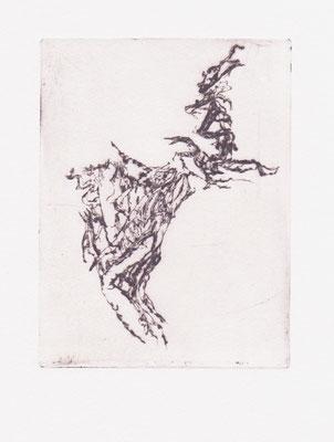 HIRNNERVEN, Mirjam, Kaltnadelradierung, 30,0 x 40,0 cm