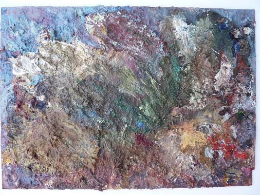 Vogelritt, 19,5 x 23,5 cm, Öl auf Palette (2009)