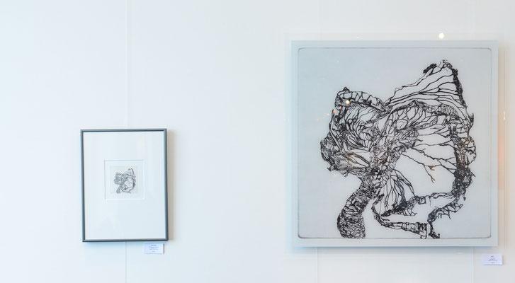 Mirjam Vogl, Rose, 9,0x9,0 und 80,0x80,0 cm