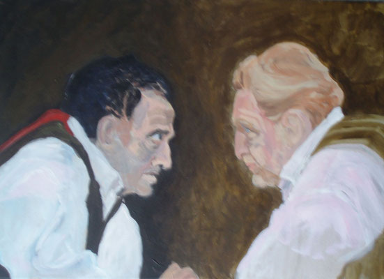 Rameaus Neffe, 40,0 x 60,0, Öl auf Leinwand