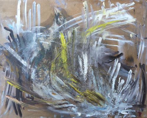 o. T. , Maria, Übermalung Öl, 50,0 x 41,0 cm