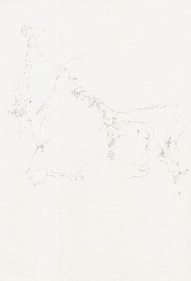 Akt II, 21,0 x 29,7 cm, Zeichnung