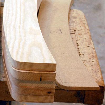fabrication des assises de balançoires