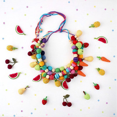 Nursing necklace Fruits
