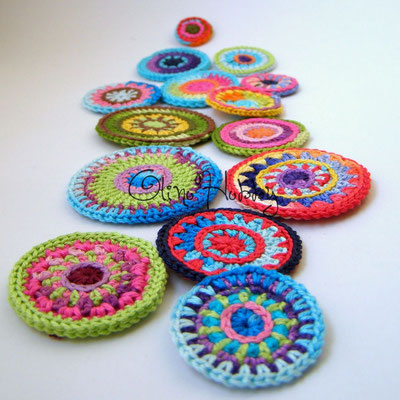 Multicolored crochet circles