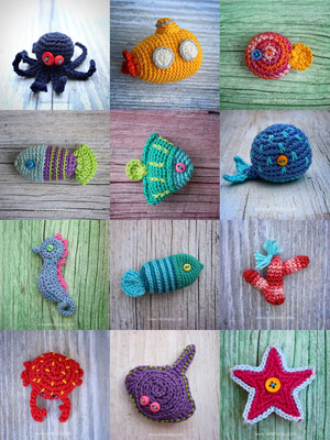 Crochet Fishing Game for baby