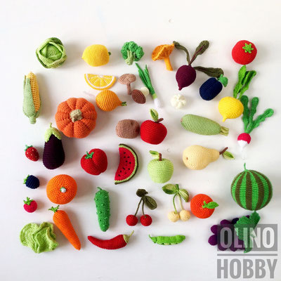 Crochet Harvest - crochet fruits and vegetables