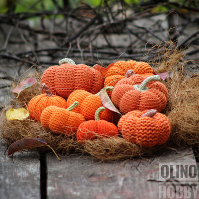 Crochet Pumpkins Set