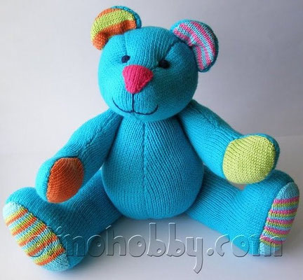 Knitted Teddy Bear by Phildar design