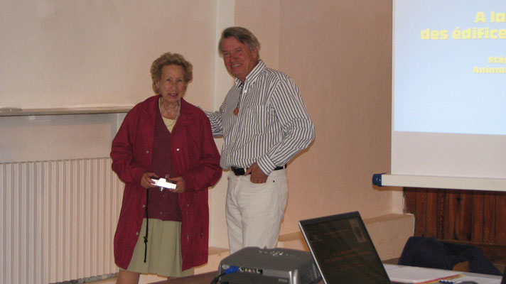 le président avecMme Morachini-Mazel