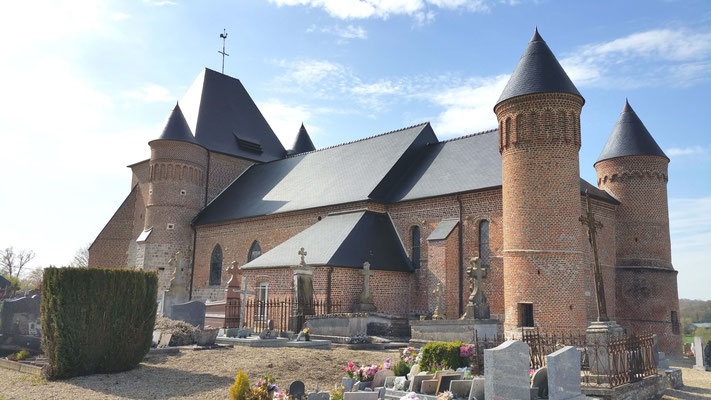 Eglise fortifiée de Flavigny-Beaurain