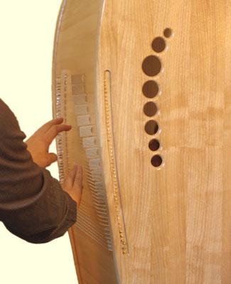 Große Tao-Klangkabine Spiel auf Rückseite ©