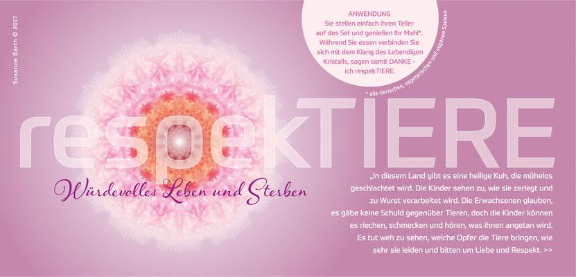 Lebendiger Kristall für Initiative respekTIERE, Flyer © Susanne Barth