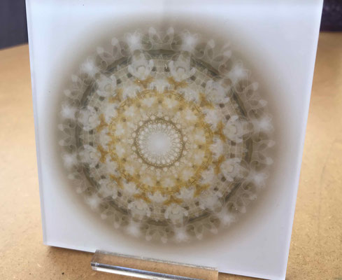 """Lebendiger Christall """"Für"""", Echtfoto hinter 2 mm Acrylglas, 13 x 13 cm Sonderformat (nicht immer erhältlich!), zum Auhängen oder Hinstellen © Susanne Barth"""