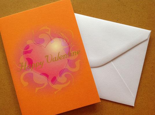 Ich Bin Dein Herz - Motiv für Happy Valentine-Klappkarte © Susanne Barth