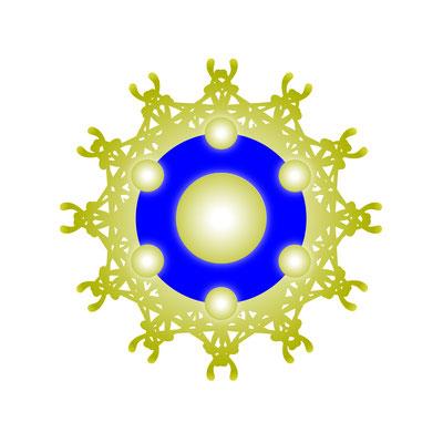 Synthese von Lebendigem Meisterschlüssel und Logo © Susanne Barth