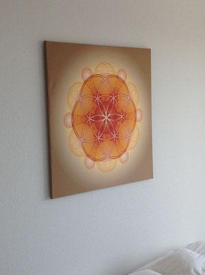 "Lebendiges Mandala ""Lebendiges Geld"" aus der COLOUR LINE  in privaten Räumen © Susanne Barth"
