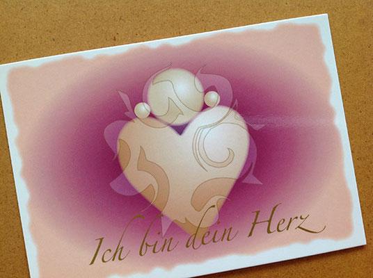 Ich Bin Dein Herz-Motiv Postkarte © Susanne Barth
