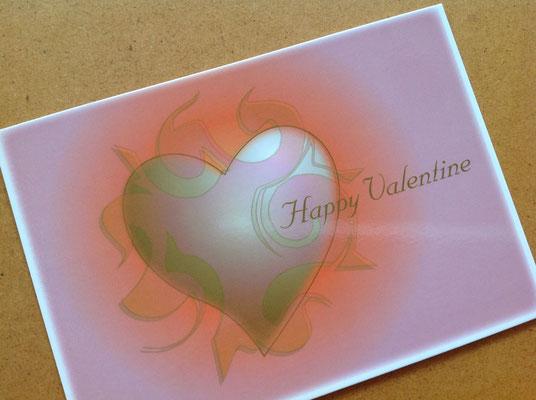 """Ich Bin Dein Herz-Motiv Postkarte """"Happy Valentine"""" © Susanne Barth"""