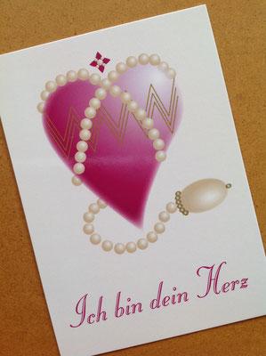 Ich Bin Dein Herz-Postkarte © Susanne Barth